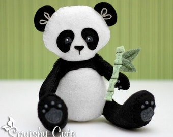 Panda Sewing Pattern PDF - Panda Stuffed Animal Felt Plushie - Penny the Panda - Instant Download