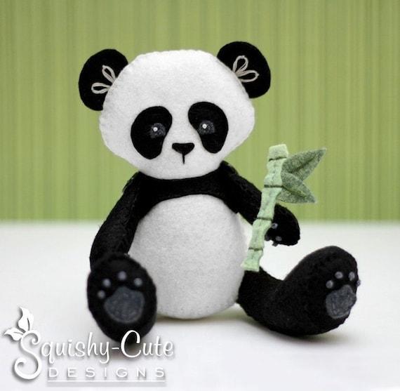 Panda Sewing Pattern PDF - Panda Stuffed Animal Felt Plushie - Penny the Panda - Instant Download