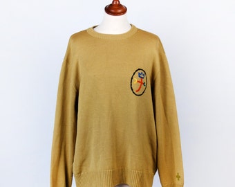 Vintage JC de Castelbajac Sweater || Olive Green || Excellent Condition