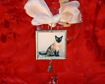 Personalized Cat Ornament, Custom, Your Photo, Christmas Cat, Meowy Christmas, Your Cat, Kitty, Holidays, FREE US Shipping