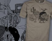 Ren and Stimpy Shirt - Fear and Loathing in Las Vegas Shirt - Mind Blown - FREE SHIPPING