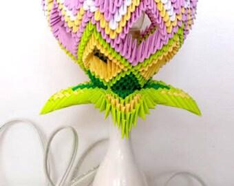 3D Origami Lotus Lamp
