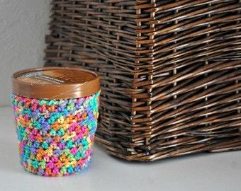 Ice Cream Cozy Pint Cover Sleeve Get Well Gift Pinata Rainbow Fiesta Stocking Stuffer