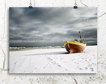Items similar to fishing boat storm seascape photography for Circle fishing boat