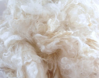 MOHAIR LOCKS - silky and shiny, white soft locks washed