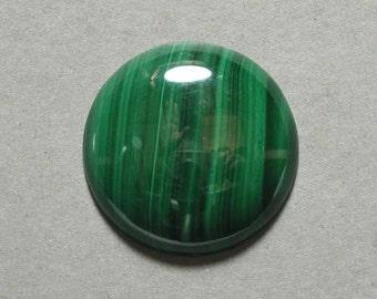 green MALACHITE round cabochon 25mm disc designer cab