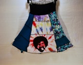 Recycled tee shirt skirt  with yoga pant style waistband size large L0089