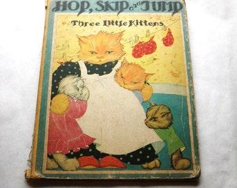 Hop Skip Jump Three Little Kittens Book Fern Bisel Peat Illustrations Black Americana