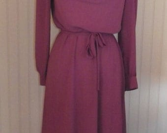 1970s Sheer Dress by Marie Claire,  Pink, Size S/M  #47945