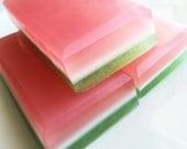 Summer Melon Soap - Watermelon Soap - Juicy Melon Natural Soap Bar - Handmade Soap - Watermelon Soap