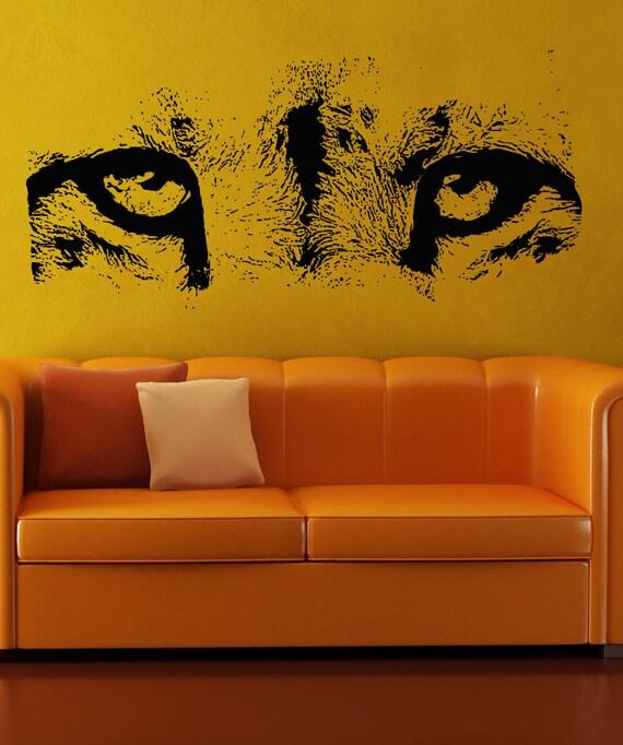 vinyl wall decal sticker cheetah eyes 5512s cheetah wall decals amp wall stickers zazzle