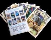 Frameable Postcard Set of 8 Cards Art Nouveau Celestial Creatures