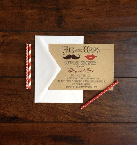 His&Hers Couples Shower Invite