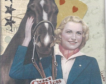 God Bless Cowgirls Paper Collage