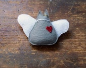 Angel Kitty Ornament - Light Gray Kitty