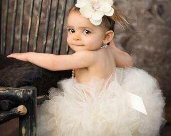 Ivory Tutu Skirt, Ivory Baby Tutu, Baby Girl Ivory Tutus, Ivory Tulle Skirt, Girls Tutu, Ivory Tutu Set, 1st Birthday Tutu, Baby Girl Tutu
