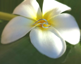 Wave Ring Sterling Silver Made in Hawaii Mahina Spirit