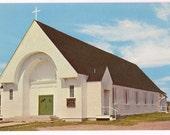 Postcard Wells Beach Maine Church St. Mary's Roman Catholic Church ME Vintage Postcard Souvenir Maine Church Ephemera