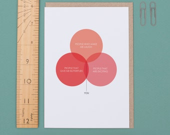 Love Venn Diagram Valentine's Day Card