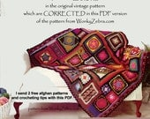 Crochet Blanket Pattern 195 PDF Afghan Granny Blanket plus BONUS Tutorial from WonkyZebra
