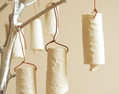 White porcelain Christmas bells