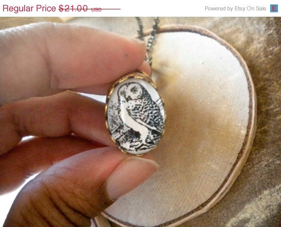 CLEARANCE DISCONTINUED Owl Necklace Owl Charm Necklace Woodland Animal Jewelry