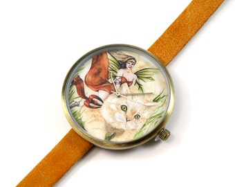 Limited Edition Art Watch - Cat Fairy Art Watch
