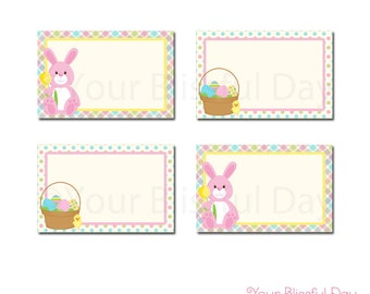 PRINTABLE Easter Bunny Egg Hunt Label Tents (Character of your choice) #411