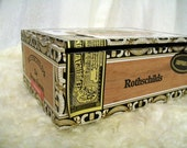 Cigar Box for crafting, purses, supplies  - ARTURO FUENTE - Rothschilds - Empty Cigar Box