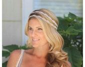 Double Caitline  Rhinestone bridal headband, wedding headband, wedding hair accessories, crystal headband, bohemian bridal, hair vine