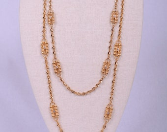 Jackie O Gold Double Paperclip Chain Necklace