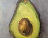 Avocado Original Oil Painting 5 x 7 Daily Painting