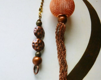 Copper Metal Mesh Ceiling Fan/ Light Pull Chain, handmade by gviolet, The Metal Collection