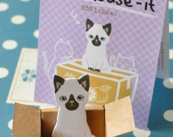 Siamese Cat - Sticky Post It Memo Note Pad 30sheets SS298
