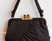 1940s Purse // Tolles Wool Handbag // vintage 40s purse