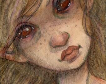 Frisky Fairy...Original ACEO