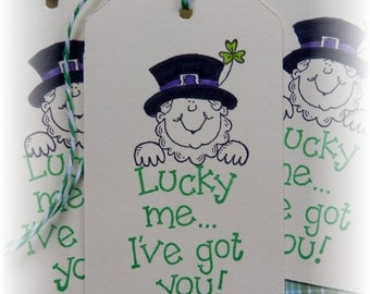 St. Patrick's Day - Lucky Me - Shamrocks- gift/hang tags-  (6)