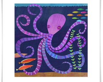 Eight Twisted Tentacles Art Print