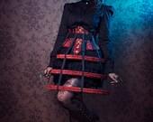 Cage skirt steampuk crinoline lolita gothic