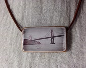 Bamboo Tile Necklace - Simple Strand - Lone Rower - San Francisco Original Photo
