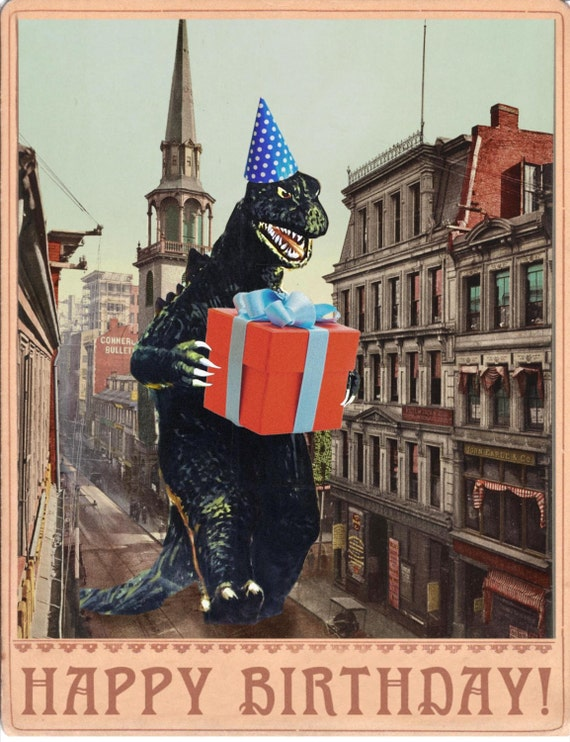 Birthday Card b movie poster Birthday Cards Vintage – Alternative Birthday Greetings