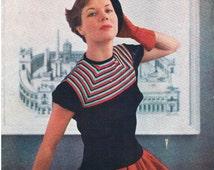 Stitchcraft / 1960's / Knitting / Embroidery / Cross Stitch / Embroidery / Vintage Patterns