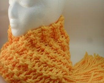 Macaroni Cheese Double Knit Chunky Scarf in Yellow - Mac n Cheese