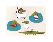 Set of 5 Die Cuts: Crocodiles - Alligators
