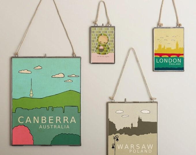 Canberra Australia // Trendy Modern Nursery Decor, City Skyline Poster, Typography Print, Giclee, World Travel Theme, Digital Art Print