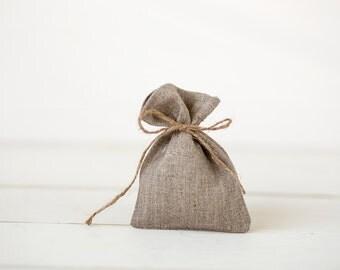 Wedding favor bags  set 50 - linen gift bags - candy favour bags - party favor gift bags - rustic gift bags - wedding linen pouches