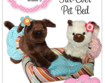 American Girl PDF Sewing Pattern - Doll Clothes Epattern - Pet Bed Set