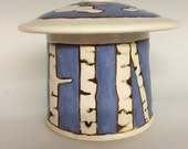 Aspen Tree Jar with Lid