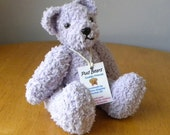 Hand Knitted Teddy for Collectors - Knitted Bear - 9 inches - Mauve Knitted Bear