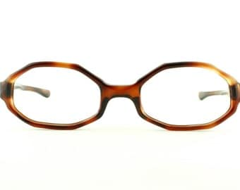Vintage Deadstock 60's Octagonal Milappe Society Girl Eyeglass Frames France Readers - FREE Domestic Shipping